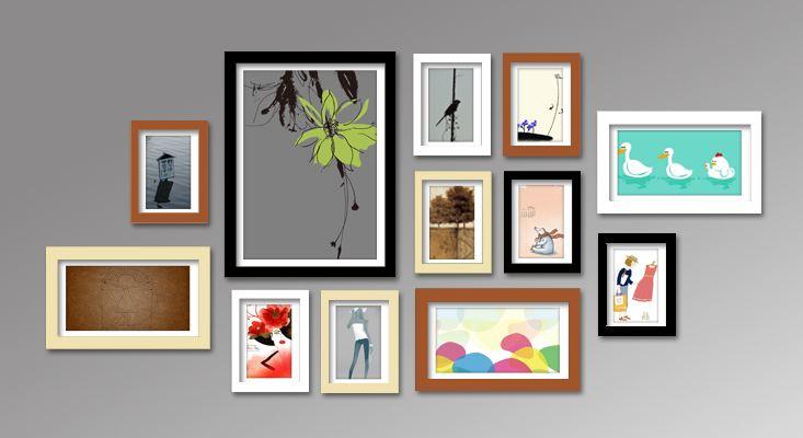 Trang trí một vài mẫu khung tranh ảnh trong phòng ăn êm ái