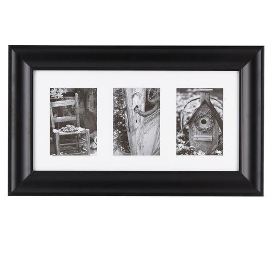 Khung tranh gỗ đơn hình chữ nhật ghép 3 ảnh