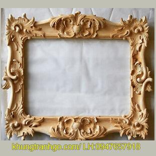 Khung gương trang trí hình vuông gỗ tự nhiên cao cấp