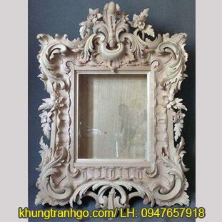 Khung gương gỗ tự nhiên hoa văn bền đẹp