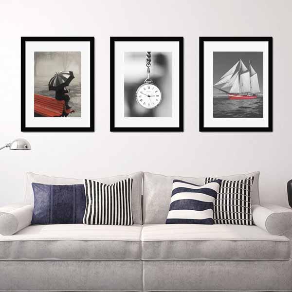 Bộ 3 khung ảnh treo tường phòng kháchhiện đại