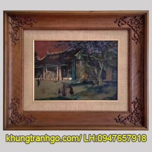 Mẫu khung tranh gỗ đẹp MK14