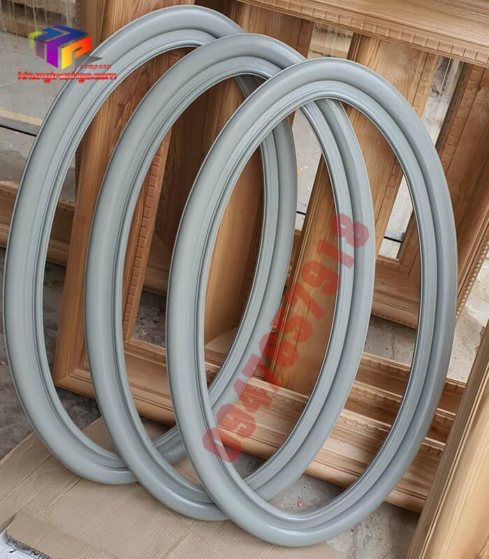 Phào gỗ khung tranh tròn