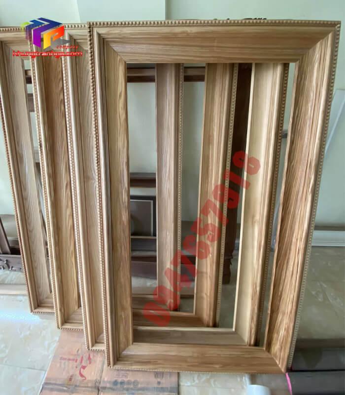 Phào gỗ khung tranh tự nhiên cặp ba khung