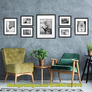 Bộ 7 khung ảnh nhỏ treo tường phòng khách ấn tượng